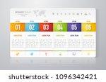vector abstract infographic...   Shutterstock .eps vector #1096342421