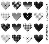 scrapbook hearts on white... | Shutterstock . vector #1096343675