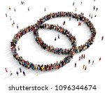 large and diverse group of... | Shutterstock . vector #1096344674
