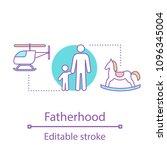 fatherhood concept icon.... | Shutterstock .eps vector #1096345004