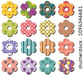 scrapbook flowers on whit... | Shutterstock .eps vector #1096346681