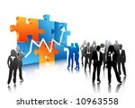 business people | Shutterstock .eps vector #10963558