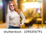 beautiful young redhead woman... | Shutterstock . vector #1096356791