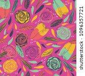 lovely girlie flowers pattern. | Shutterstock .eps vector #1096357721