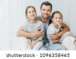 father and kids. paternity... | Shutterstock . vector #1096358465