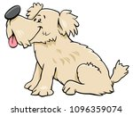 Stock vector cartoon illustration of cute funny dog or puppy animal character 1096359074