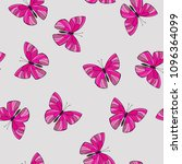 seamless pattern with pink... | Shutterstock .eps vector #1096364099