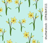 seamless pattern with yellow... | Shutterstock .eps vector #1096364111