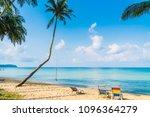 beautiful tropical beach and... | Shutterstock . vector #1096364279