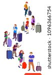 vector illustration of a crowd... | Shutterstock .eps vector #1096366754