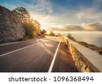 mountain road at sunset in... | Shutterstock . vector #1096368494