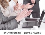 business team applauding... | Shutterstock . vector #1096376069