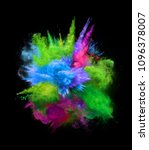 bright colorful explosion of...   Shutterstock . vector #1096378007
