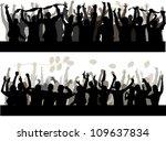 happy people silhouette | Shutterstock .eps vector #109637834