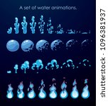 sprite sheet of water splashes. ...