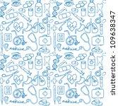 vector doodle seamless... | Shutterstock .eps vector #109638347