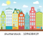 old colourful buildings in...