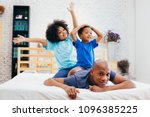 african american family of...   Shutterstock . vector #1096385225