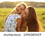 happy enjoying mother hugging... | Shutterstock . vector #1096385429
