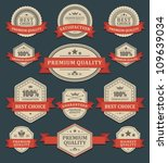 vintage labels and ribbons... | Shutterstock .eps vector #109639034