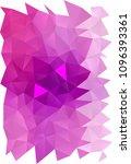light purple vertical polygon... | Shutterstock . vector #1096393361