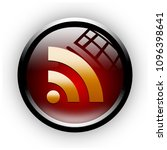 """rss button isolated. """"3d...   Shutterstock . vector #1096398641"""