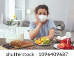 impossible choice. young upset... | Shutterstock . vector #1096409687