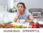 poor appetite. adolescent lady... | Shutterstock . vector #1096409711