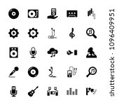 audio icon. collection of 25... | Shutterstock .eps vector #1096409951