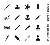 ink icon. collection of 16 ink... | Shutterstock .eps vector #1096410011