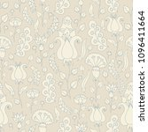 seamless background with floral ... | Shutterstock .eps vector #1096411664
