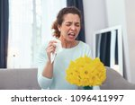 bad novelty. young woman... | Shutterstock . vector #1096411997