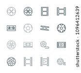 filmstrip icon. collection of... | Shutterstock .eps vector #1096412639