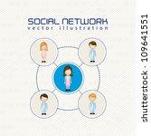 illustration of social networks ... | Shutterstock .eps vector #109641551