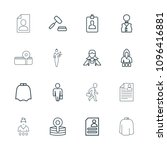occupation icon. collection of... | Shutterstock .eps vector #1096416881