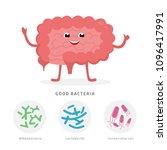 good bacteria concept... | Shutterstock .eps vector #1096417991