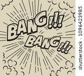 bang. comic style phrase on... | Shutterstock .eps vector #1096423985