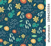 floral seamless pattern with... | Shutterstock .eps vector #1096425554