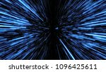 space travelling in the speed... | Shutterstock . vector #1096425611