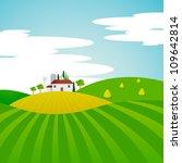 vector landscape   farm and...   Shutterstock .eps vector #109642814