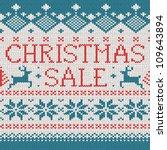 christmas sale  scandinavian... | Shutterstock .eps vector #109643894
