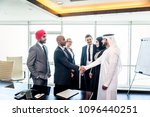 multicultural business people... | Shutterstock . vector #1096440251