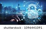 businessman on blurred... | Shutterstock . vector #1096441091
