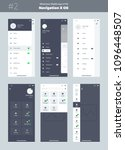 wireframe kit for mobile phone. ... | Shutterstock .eps vector #1096448507