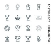 reward icon. collection of 16... | Shutterstock .eps vector #1096451501
