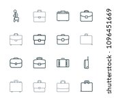 brief icon. collection of 16... | Shutterstock .eps vector #1096451669