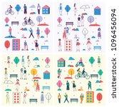 vector backgrounds in flat... | Shutterstock .eps vector #1096456094