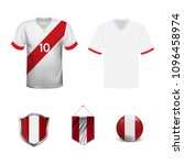 set of t shirts and flags of...   Shutterstock .eps vector #1096458974