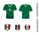 set of t shirts and flags of... | Shutterstock .eps vector #1096459031