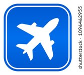 airport vector blue sign on... | Shutterstock .eps vector #1096462955